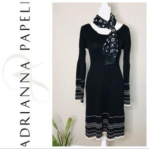 Adrianna Papell Bell Sleeve Sweater Dress.
